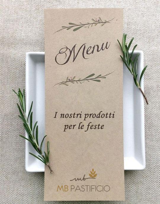 MB Pastificio menu con piatti della tradizione piemontese