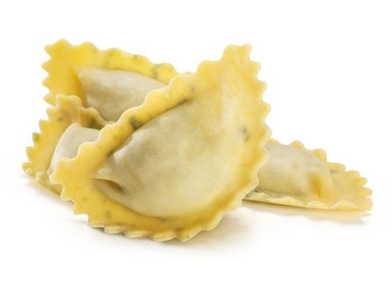 pasta all'uovo ripiena artigianale - panzerotti ricotta e spinaci